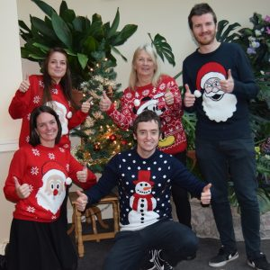 Wear your Jolly Jumpers and donate to your local hospice.