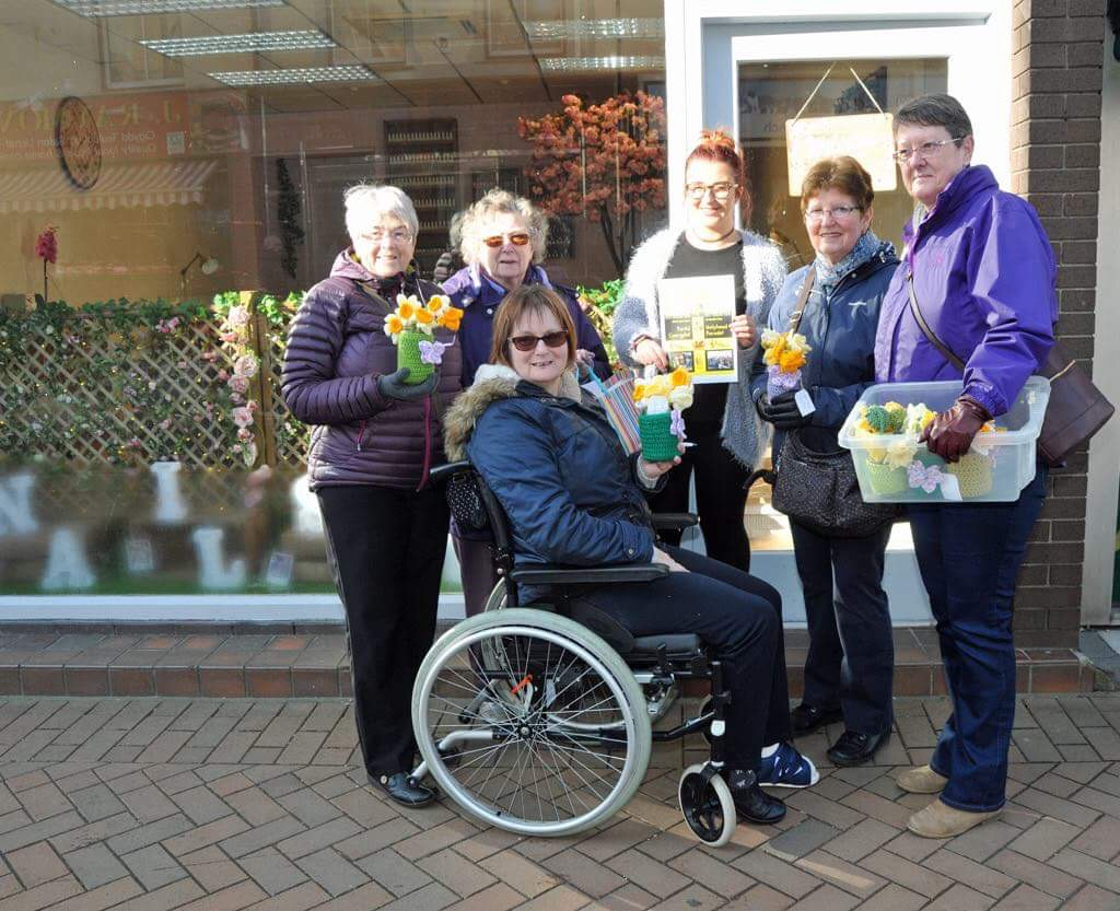 The CYBI YARN SPINNERS GET KNITTING FOR CHARITY