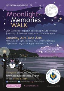 Moonlight Memories Walk 2018 @ Ysgol John Bright, Maesdu Rd