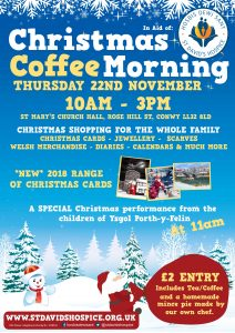 Conwy Christmas Coffee Morning @ St Mary's Church Hall | Wales | United Kingdom