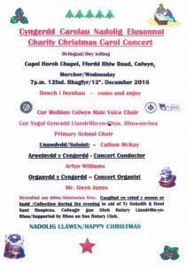 Cyngerdd Carolau Nadolig Elusennol @ Horeb Methodist Church | Wales | United Kingdom