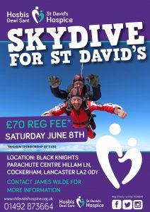 Skydive for St David's 2019 @ Black Knights Parachute Centre | Cockerham | England | United Kingdom