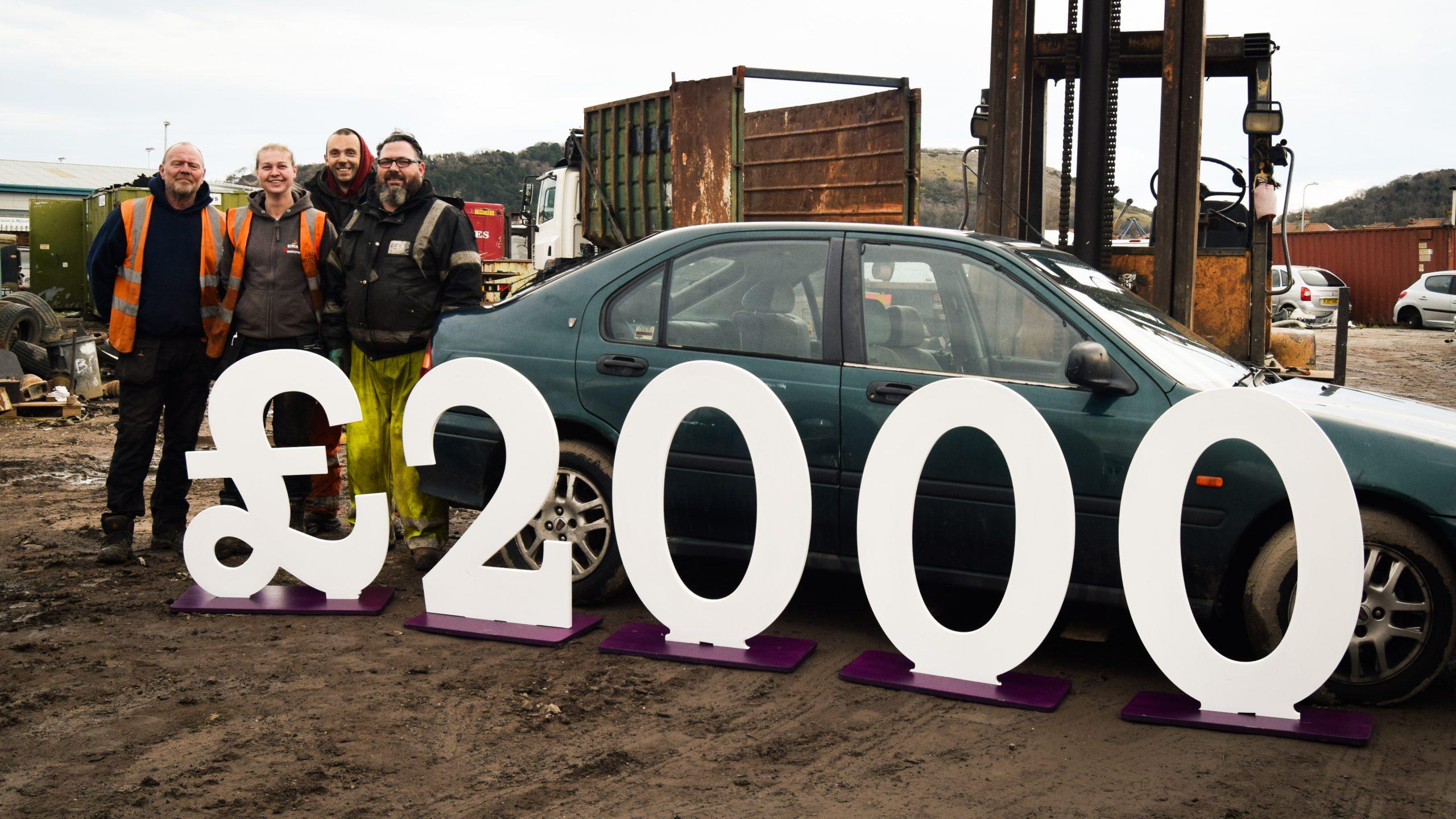 Llandudno scrapyard donates thousands to local adult hospice