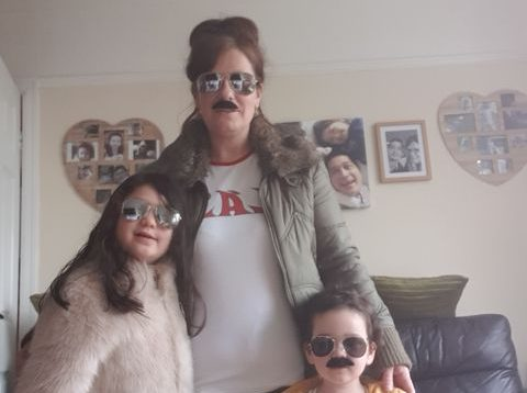 Family and friends don Queen themed fancy-dress for charity walk in memory of Bill