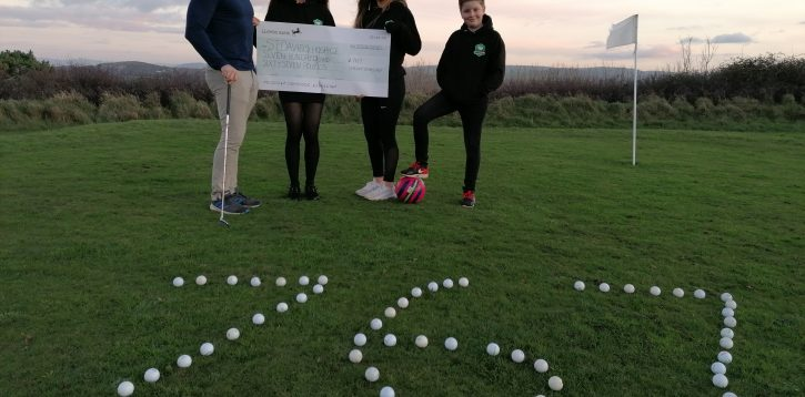 Golfers swing into action and raise over £700 for St David's Hospice