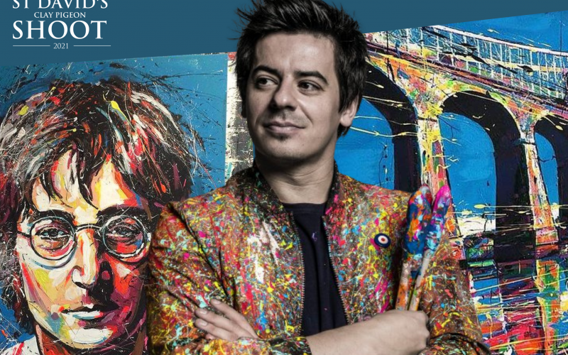 World class speed painter returns to North Wales to help raise funds for St David's Hospice
