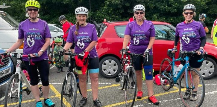 Charity Cycle in aid of St David's Hospice!