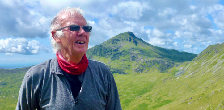 Peter Smith, local palliative care charity volunteer takes on the Three Peak Challenge in aid of St David's Hospice!
